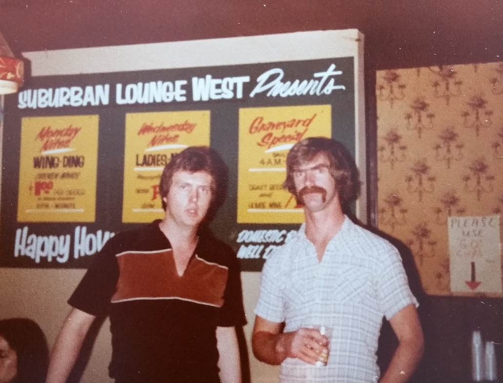 1981 TK and Dan at Suburban West