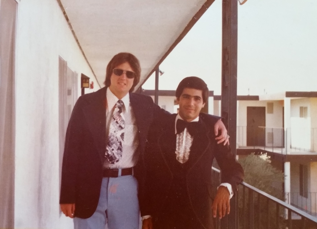 1975 Ron's wedding day with TK