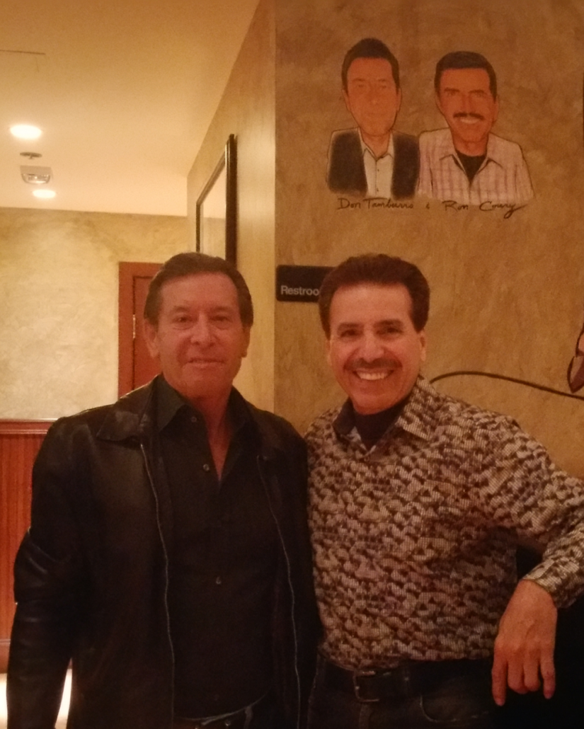 2017 Car dealership partner Don Tamburro and Ron Coury at Palm Restaurant, Caesars Palace, Las Vegas