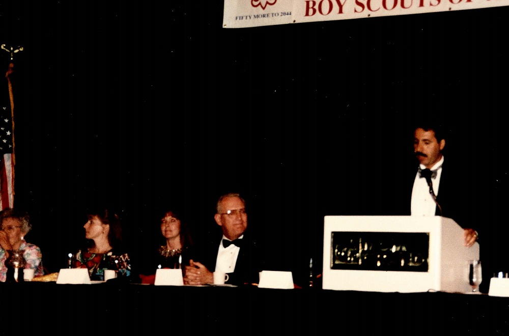 1994 MGM Hotel, Ron emcees Boy Scout event honoring LVMPD Undersheriff Eric Cooper