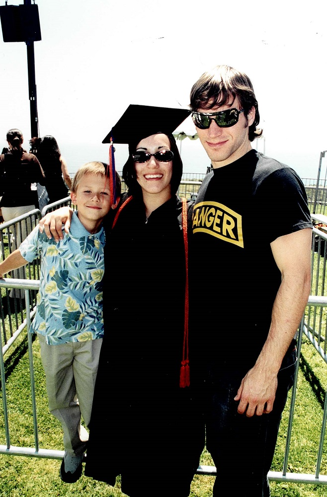 2003 Angela graduates Pepperdine University, Tom and Joe Coury attend