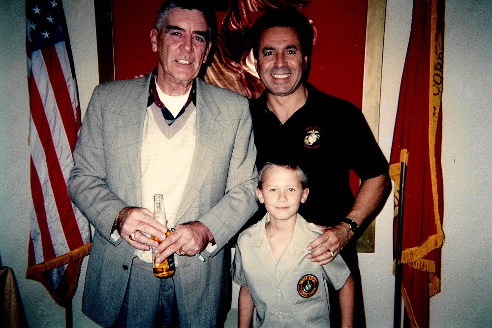 2003 Leatherneck Club with R. Lee Ermey, Ron and Tom Coury