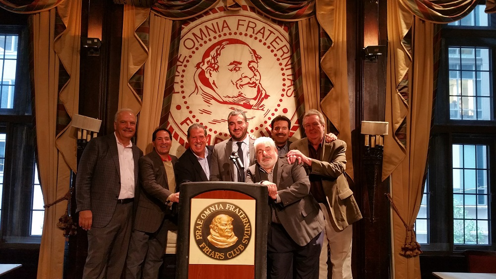 2016 The boys from Brooklyn gather at the famed Friars Club
