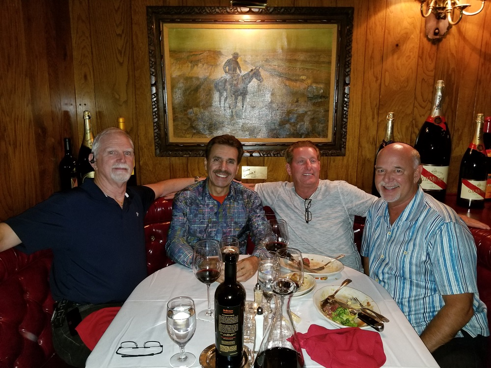 2018 Dan Hughes, Ron, Brian Golie and Doug Vind at Golden Steer