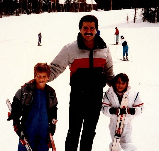 1988 Ron, Angela & Joe skiing in Utah