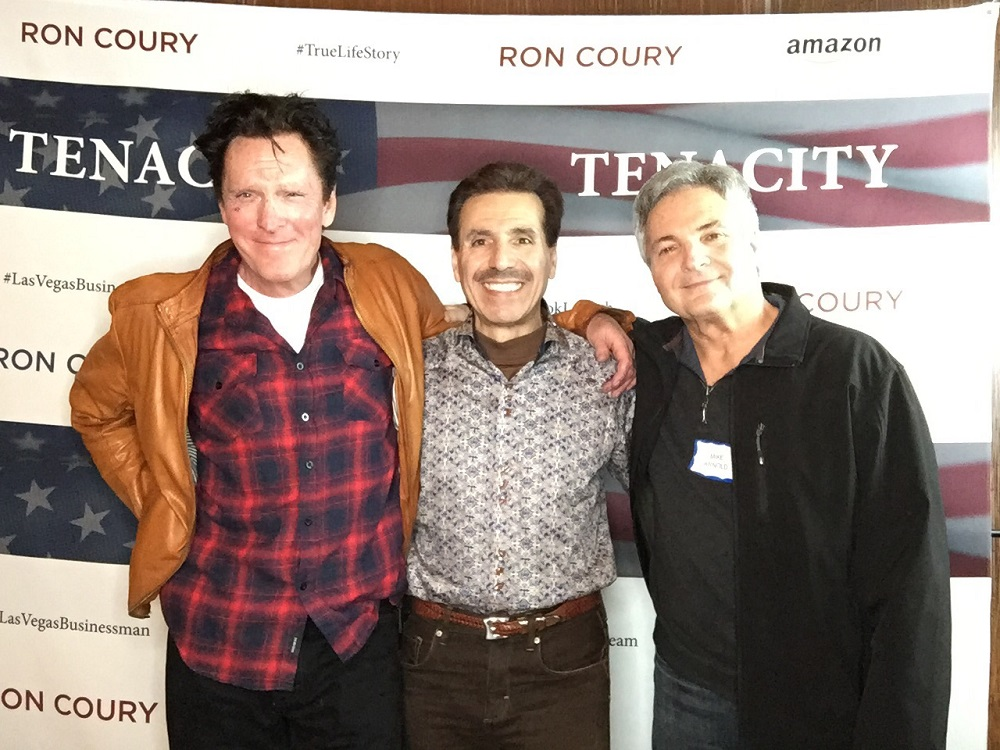 Jan 15, 2019 Tenacity Launch Party Michael Madsen, Ron and Mike Arnold