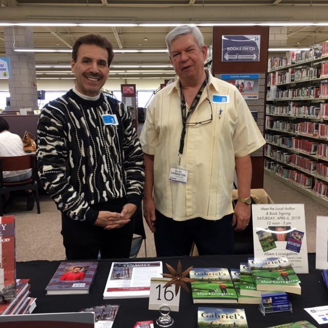 2019 Ron with writer Alan Livingston at the Henderson Libraries Author Showcase